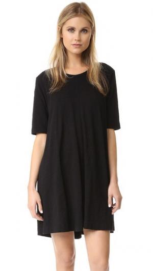 Трапециевидное платье-футболка Wilt. Цвет: голубой