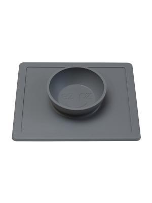 Тарелка-плейсмат ezpz. Цвет: серый