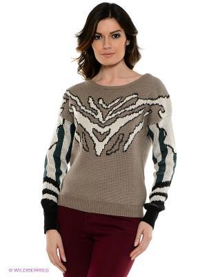 Джемпер Vero moda. Цвет: серо-коричневый