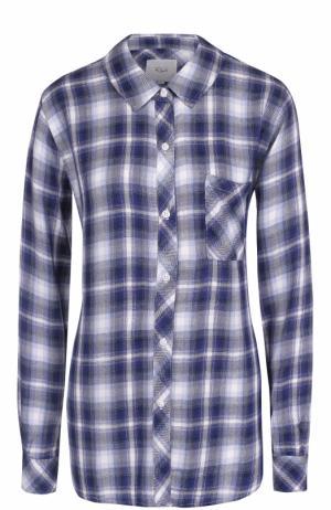 Блуза свободного кроя в клетку Rails. Цвет: голубой