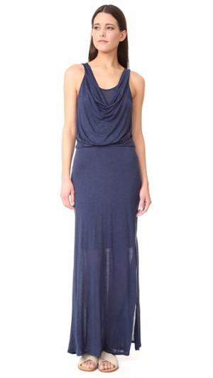 Макси-платье Three Dots. Цвет: ночной ирис