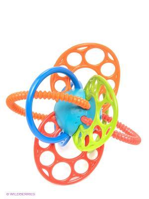 Развиващая игрушка Яркие петельки Oball. Цвет: оранжевый