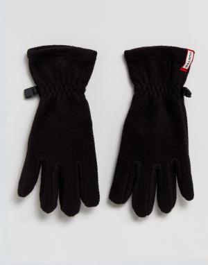 Hunter Черные флисовые перчатки Original. Цвет: черный