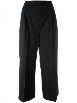 Широкие укороченные брюки MSGM. Цвет: чёрный