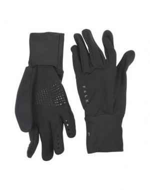 Перчатки FALKE. Цвет: черный