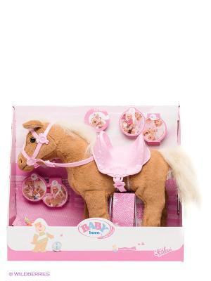 Игрушка BABY born Лошадка Интерактивная ZAPF. Цвет: бежевый, розовый
