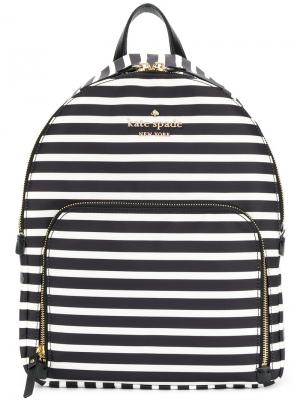 Полосатый рюкзак Kate Spade. Цвет: чёрный