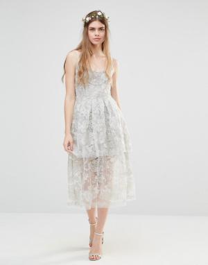 Body Frock Многослойное платье Wedding Freesia. Цвет: серебряный