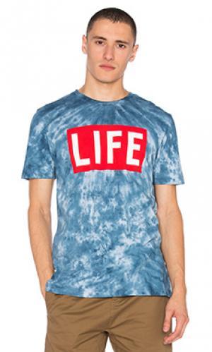 Футболка life logo Altru. Цвет: синий
