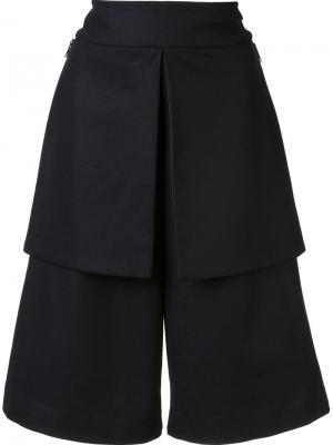 Широкие шорты до колена Y-3. Цвет: чёрный