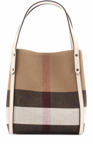 Текстильная сумка с принтом Burberry. Цвет: белый