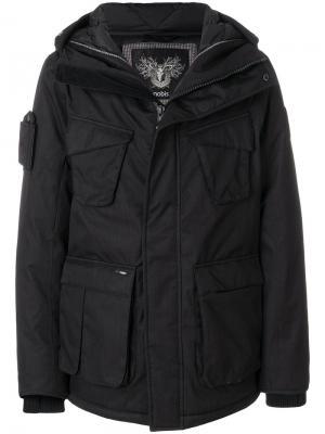 Куртка-пуховик Nobis. Цвет: чёрный