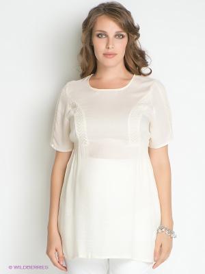 Блузка Mama Licious. Цвет: молочный