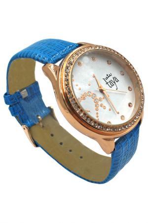 Часы Taya. Цвет: золотистый, синий