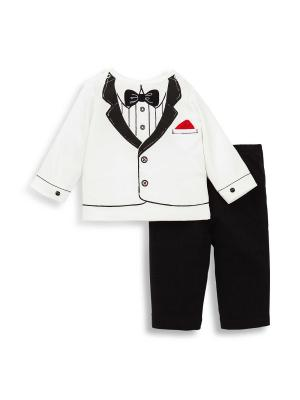 Комплект из 2-х предметов Маленький принц Little Me. Цвет: черный, белый