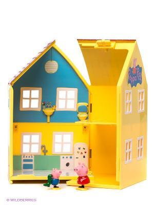 Игровой набор Домик Пеппы, Свинка Пеппа Peppa Pig. Цвет: желтый, зеленый, розовый