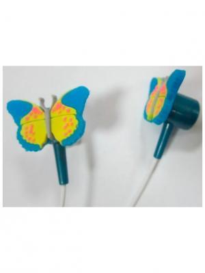 Наушники Бабочка Склад Уникальных Товаров. Цвет: голубой, желтый