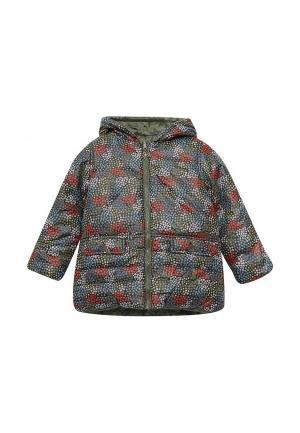 Куртка утепленная Boboli. Цвет: разноцветный