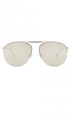 Солнцезащитные очки liberation Le Specs. Цвет: металлический серебряный