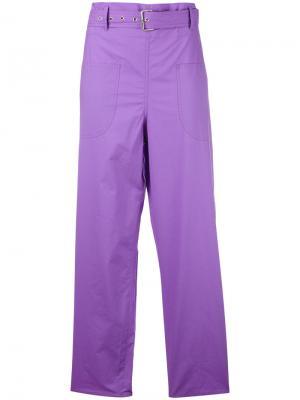 Loose-fit trousers Ter Et Bantine. Цвет: розовый и фиолетовый