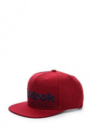 Бейсболка Reebok Classics. Цвет: бордовый
