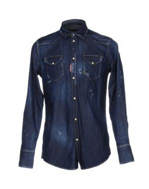 Джинсовая рубашка DSQUARED2. Цвет: синий