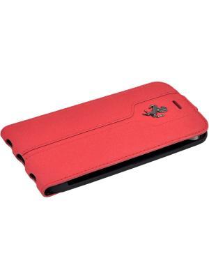 Чехол Ferrari для iPhone 7 Montecarlo Flip Leather Red. Цвет: красный