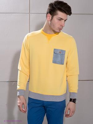 Джемпер Duck and Cover. Цвет: желтый, серый