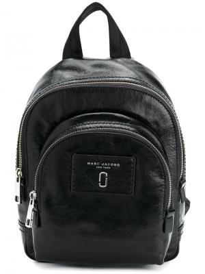 Мини-рюкзак с двумя молниями Marc Jacobs. Цвет: чёрный