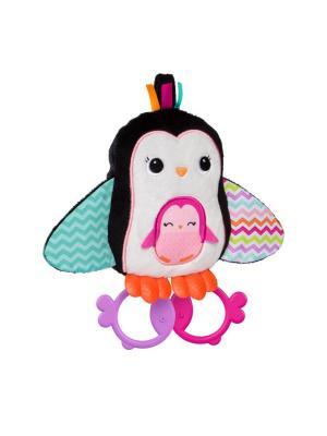 Развивающая игрушка Пингвинчик, с прорезываетелями BRIGHT STARTS. Цвет: черный, белый
