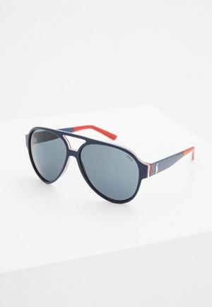 Очки солнцезащитные Polo Ralph Lauren. Цвет: синий