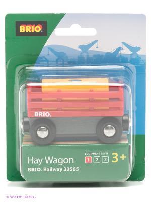 Вагон для погрузки и выгрузки BRIO. Цвет: красный