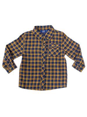 Рубашка Knot so bad. Цвет: темно-синий, горчичный