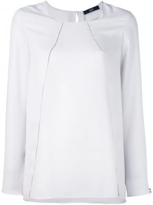 Блузка с панельным дизайном Steffen Schraut. Цвет: телесный