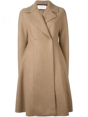 Двубортное пальто Harris Wharf London. Цвет: телесный