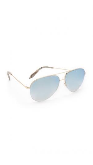 Классические солнцезащитные очки-авиаторы Victoria Beckham