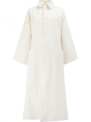 Длинное пальто Toogood. Цвет: белый