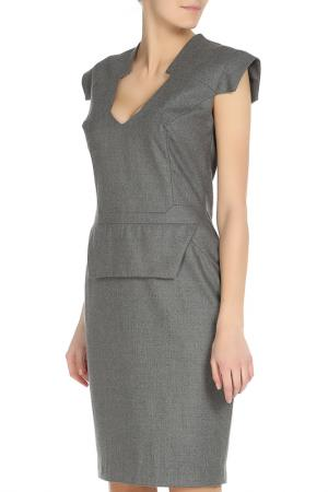 Повседневное платье с застежкой SIVIGLIA. Цвет: серый
