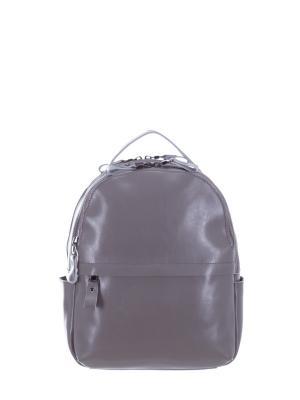 Рюкзак натуральная кожа Sara. Цвет: серый