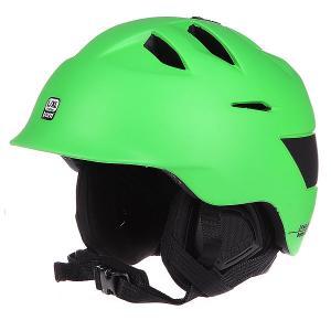 Шлем для сноуборда  Kingston Matte Neon Green W/ Black Liner Bern. Цвет: зеленый