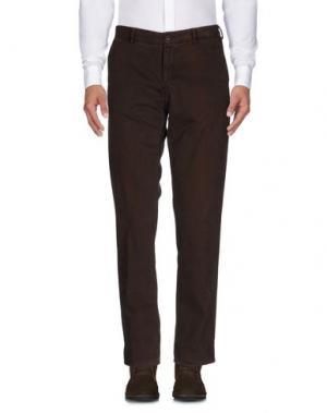 Повседневные брюки REPORTER. Цвет: темно-коричневый