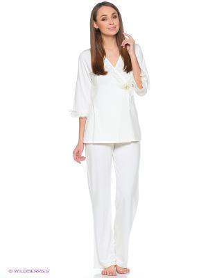 Пижама Cascatto. Цвет: кремовый, серо-зеленый