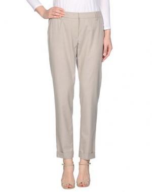 Повседневные брюки PESERICO SIGN. Цвет: светло-серый