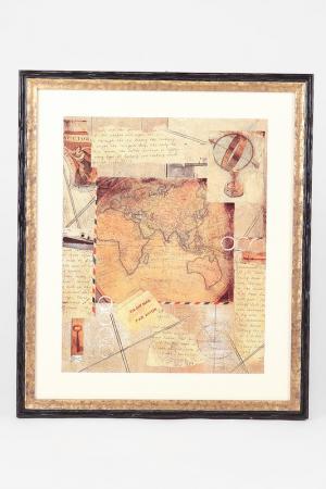 Постер Карта F.A.L. Цвет: мультиколор