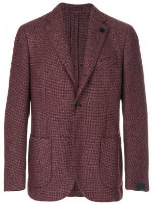Классический пиджак Lardini. Цвет: розовый и фиолетовый