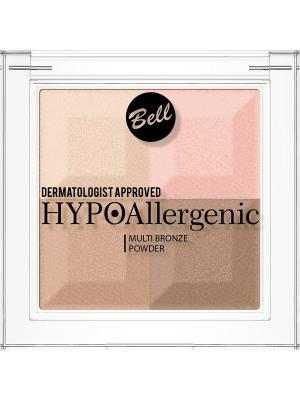 Bell Hypoallergenic пудра с бронзирующим и осветляющим эффектом Multi Bronze Powder Тон 02. Цвет: бежевый