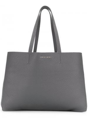 Shopping tote bag Orciani. Цвет: серый