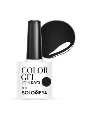Гель-лак Color Gel Тон Perfectly Black SCG003/Идеально черный SOLOMEYA. Цвет: черный