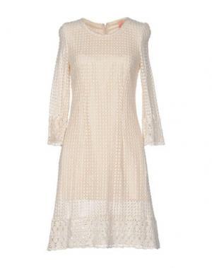 Платье до колена COLLETTE DINNIGAN. Цвет: бежевый