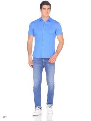 Рубашка JB casual. Цвет: голубой
